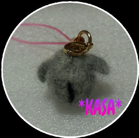 羊毛フェルトのゾウ
