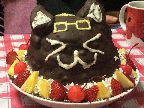 日常 猫ケーキ