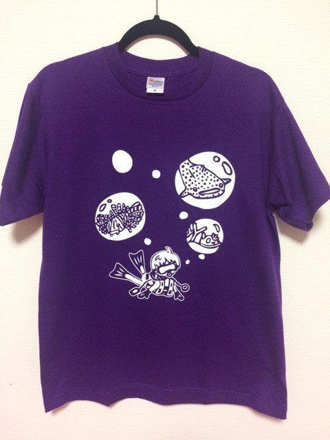 Tシャツ Tシャツ 紫